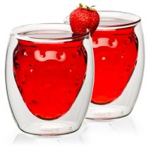 4home Strawberry HotCool thermo pohár 250 ml, 2 db