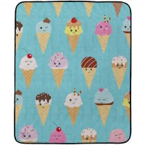 Butter Kings Kemping pléd Happy Ice creams, 145 x 180 cm
